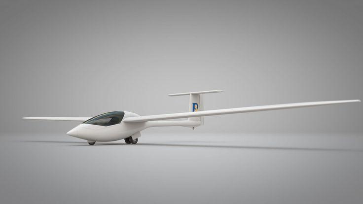Le GloW (en image de synthèse) est un appareil de type motoplaneur et monoplace. Derrière la verrière se cache un réacteur dont l'entrée d'air, en haut du fuselage, n'est pas représentée ici et qui pourra être occultée par un volet. Les roues du train d'atterrissage principal, sous le fuselage, sont entraînées par un moteur électrique. Les ailes sont démontables pour faciliter le transport. © ProAirsport
