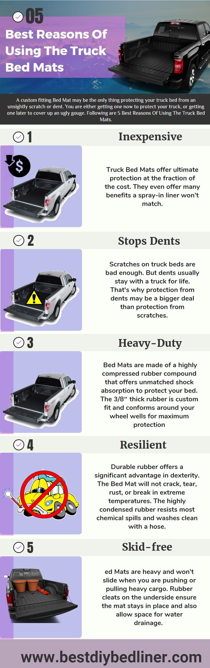 Rubber mats for trucks -  Truck Bedmats Is The Best Option To Protect Your Truck From Dent Scratches