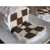 checkerboard pattern - cool for chess theme, or do red & black for checkers, or the black & white for racing / cars.