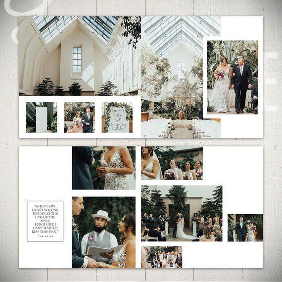 Plantilla de álbum de bodas: Infinito – 10×10 Plantilla de boda o libro de compromiso para Photoshop   – Fotobücher
