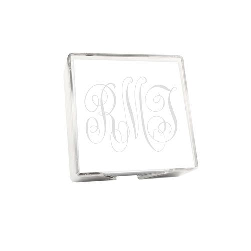 This listing is for a Monogram Memo Square with Holder