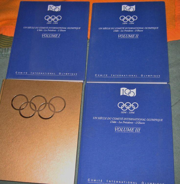 Un siècle du comité international olympique 4vol Exlibris daniel deschatres 1994