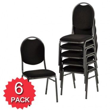 $50 a piece. Premium Stackable Chairs Visitor Conference - Buy Stacking Chairs for Sale - Black - 6 Pack - Milan Direct
