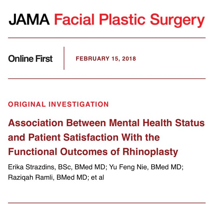 Very proud of Erika's Research on the impact of perceived nasal function in patients with poor mental health status - helps to understand the transference to perceived function but not away from surgical benefit  http://click.alerts.jamanetwork.com/click/mvf8m-dkzkck-1b65wlv1/