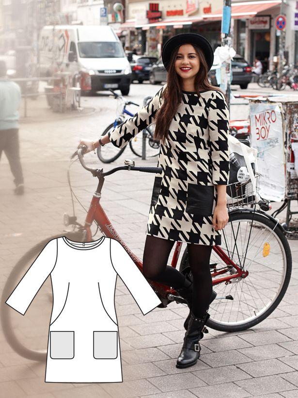 I need this fabric baaaad!    Street Chic: 9 New Patterns – Sewing Blog | BurdaStyle.com