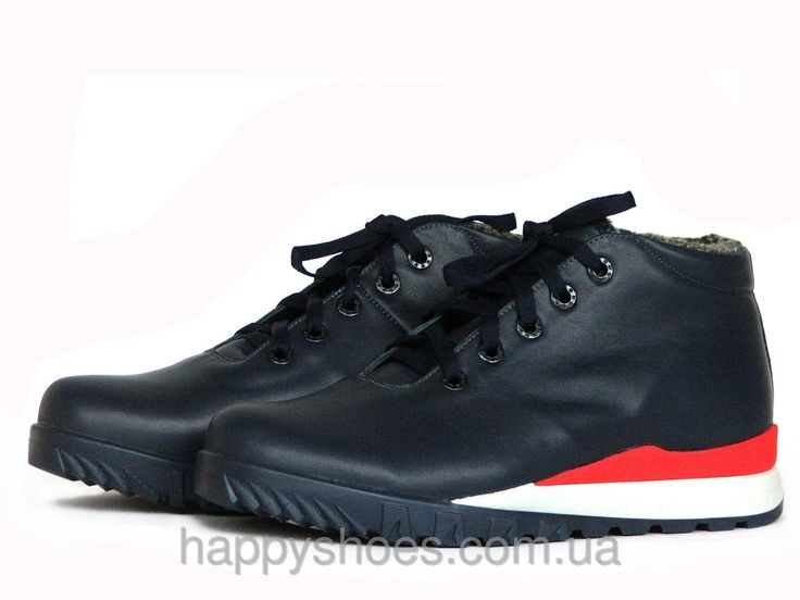 Зимние ботинки мужские на высокой подошве