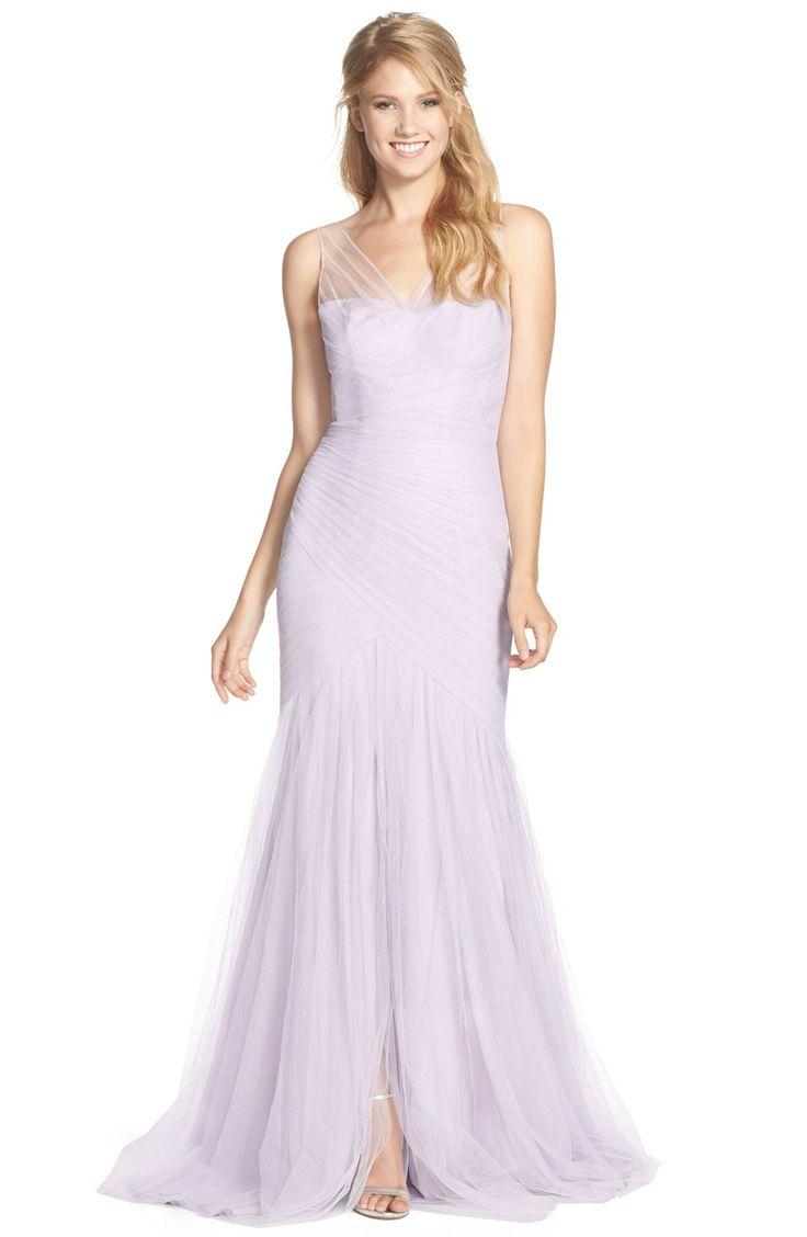 131 best purple bridesmaid dresses images on pinterest purple monique lhuillier bridesmaids illusion yoke pleat tulle trumpet gown available at ombrellifo Choice Image