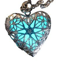 Steampunk Fairy Magical Fairy Glow in the Dark Necklace-aqua-sil Pendant is little less then one inch in diameter. Any light will charge the powder. However, direct sunlight, high wattage bulbs, or black lights are needed to obtain the maximum glow. The glow will gradually fade until recharged. It can be recharged over and over. Necklace is going to be great addition for your pirate, steampunk , Victorian ,gothic ....