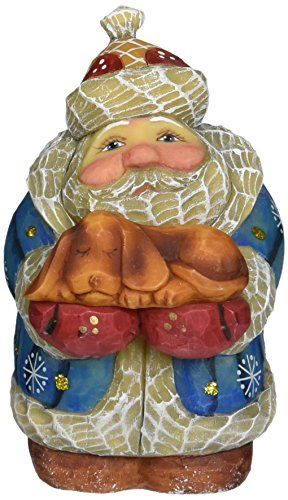 "G. Debrekht Santa Dog, 4"" *** Details can be found by clicking on the image. (This is an affiliate link) #CollectibleFigurines"