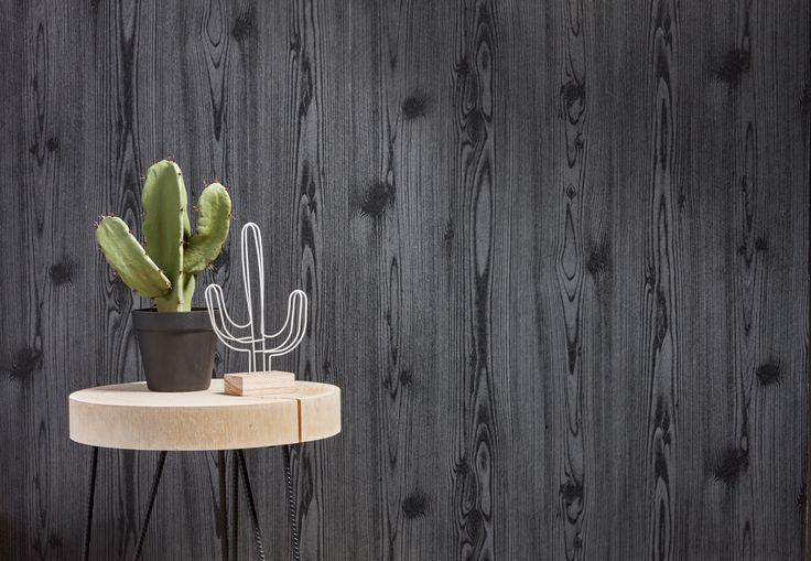 Een steigerhoutlook geeft je woonkamer of slaapkamer karakter en gezelligheid. Steigerhoutbehang laat zich gemakkelijk combineren met zowel rustieke, verweerde meubelen, als strakke en moderne lijnen. #kwantum #behang #steigerhout #hout #opdemuur #interieur #wonen #steigerhoutbehang