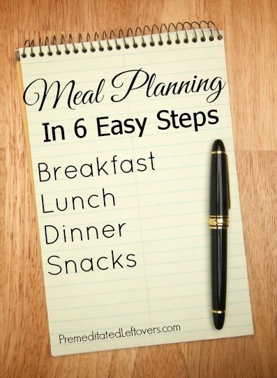 Meal Planning in 6 Easy Steps - A tutorial showing you how to make a meal plan for a month. Meal Planning save you money and this method will save you time.