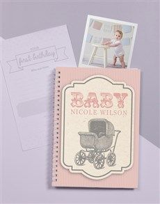 gifts: Personalised Classic Babys First Year Journal!