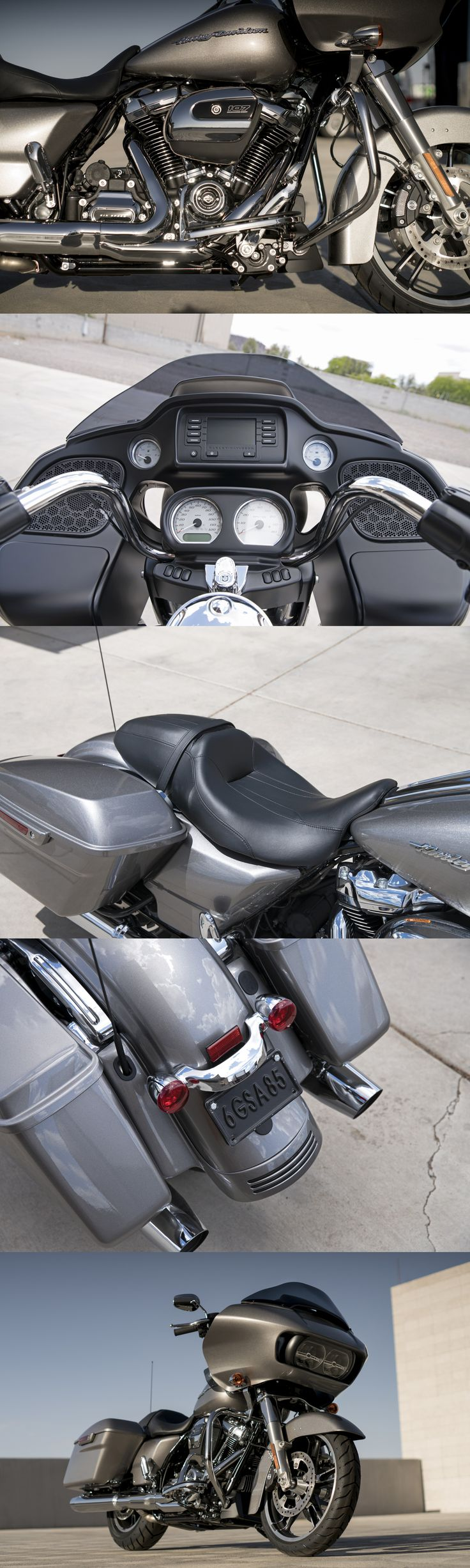 The 2017 Road Glide gets even more aggressive thanks to the all-new Milwaukee-Eight 107 engine, all-new suspension, and Reflex Linked Brembo brakes. It's time to make your own assault on the wind. | 2017 Harley-Davidson Road Glide