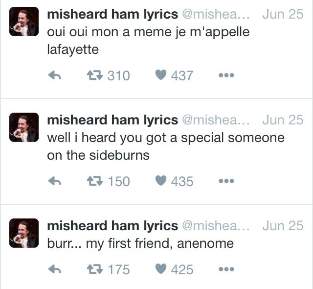 Misheard Hamilton lyrics
