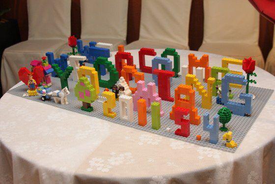 レゴブロックのウェルカムボード!