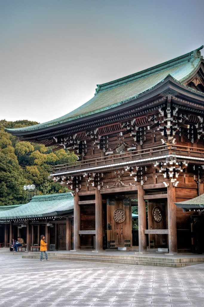 Tokyo, Meiji shrine. Japanese beauty. Very quiet even though it is in the center of Tokyo.