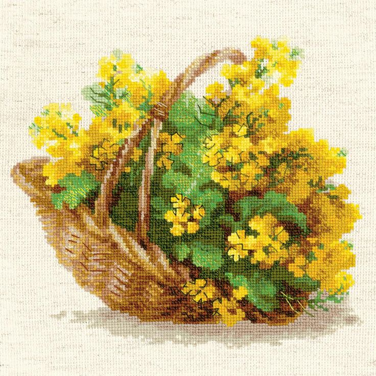 """Yellow Rapeseed Counted Cross Stitch Kit-9.75""""X9.75"""" 14 Count"""