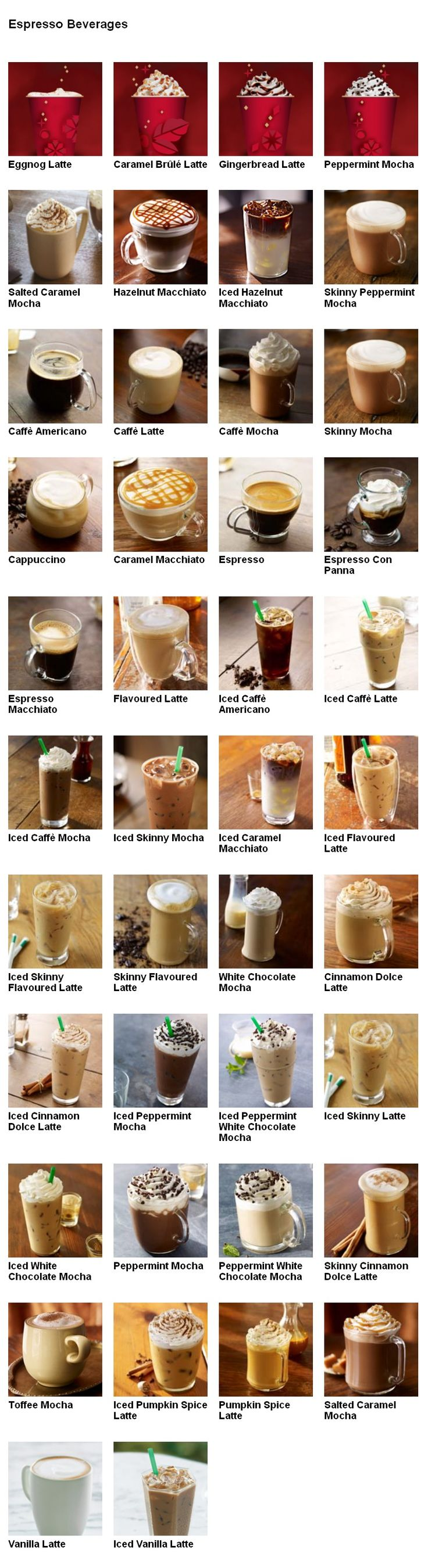 Starbucks - Drinks                                                                                                                                                                                 More