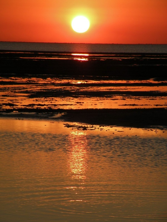 South Padre Island, Texas. I caught the most beautiful sunset.