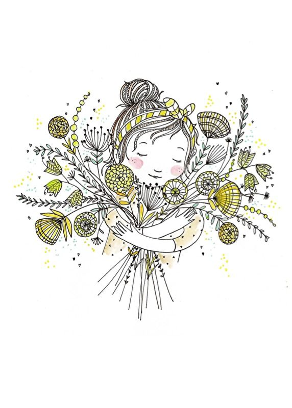 Marieke ten Berge 'Postcard Flowergirl'