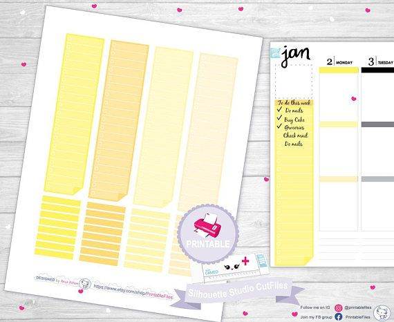 Canary printable headers, vertical headers, #supplies @EtsyMktgTool http://etsy.me/2jtdBD8