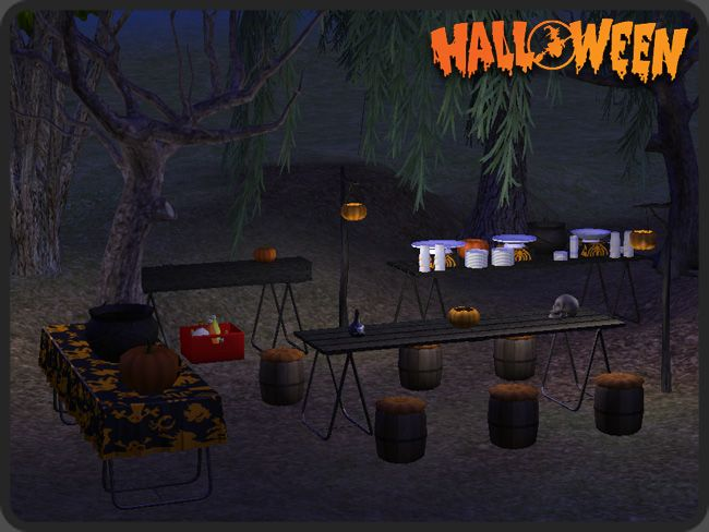 around the sims 2 objects outdoor halloween party ts2 themes halloween pinterest outdoor halloween parties and sims - Outdoor Halloween Party