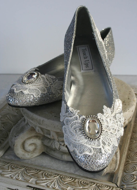 ANASTASIA wedding flats lace bridal shoes by TheVictorianGarden, $78.00