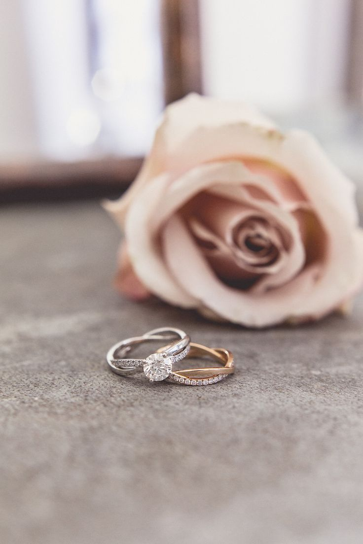 """Diamond Engagement Ring & Wedding Band - Image by Anna Clarke Photography - De Beers """"A Moment To Last Forever"""""""