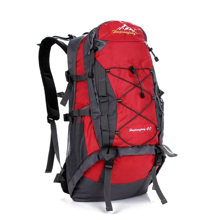 40L Waterproof Nylon Backpack Sports Travel Hiking Climbing Unisex Rusksack