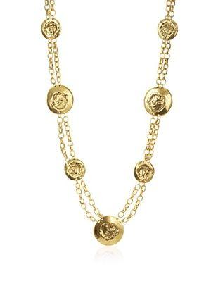 Karine Sultan Hammered Disc Necklace