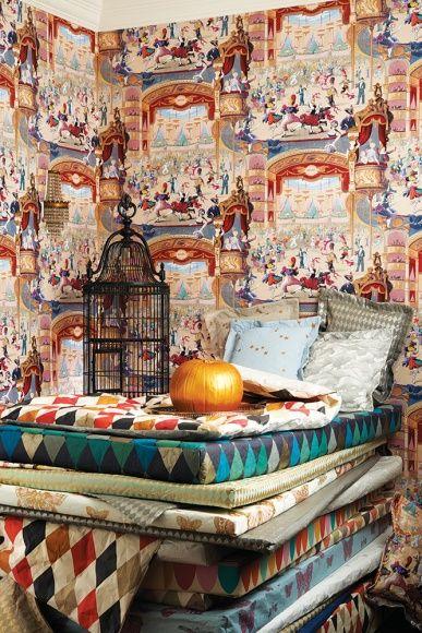 34 best Design Carta da parati images on Pinterest Farrow ball - farbe puderrosa kombinieren wohnen