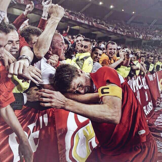 Today my Hero Stevie G. played his last game for Liverpool. He will be missed!
