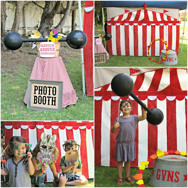 felt flame and huluhoop, and balloon weights a must have props! LOVE... homemade by jill: preschool carnival party