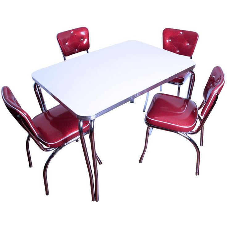 Finally found my Formica table and Lucy Diner chairs  It s custom made so I  downsized the table and purchased only two chairs  Should work nicely in  front  81 best Retro Kitchen Chairs images on Pinterest   Kitchen chairs  . Red Retro Diner Chairs. Home Design Ideas
