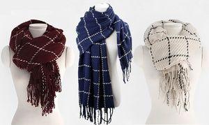 Oversized gestreepte sjaal 4 kleuren