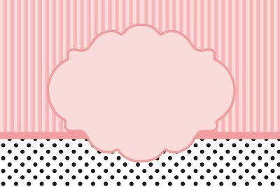 Poa sonrosada y Rayas - Con Kit completo de los marcos párr Las Invitaciones, estas etiquetas golosinas, Y fotos de recuerdo! | Hacer ¡Nuestro part ...