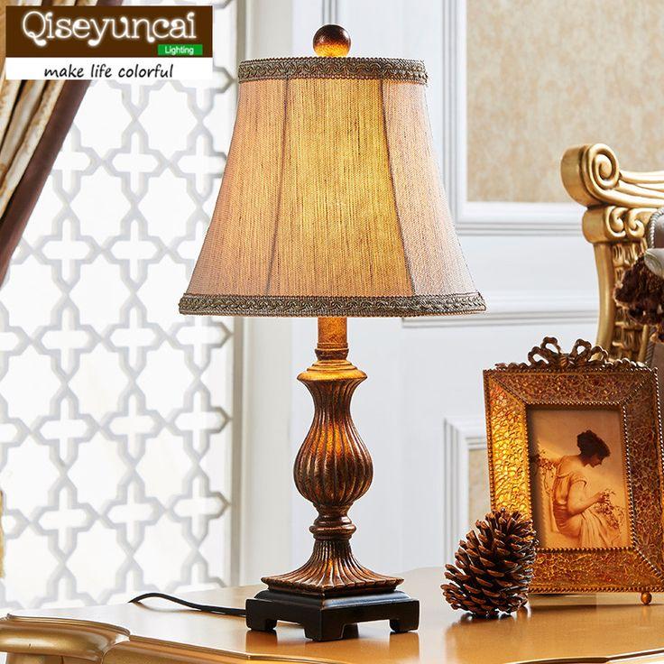 Qiseyuncai Американский стиль минималистский современное искусство спальня тумбочка лампа Старинные сельская Свадьба минималистский искусство освещения купить на AliExpress