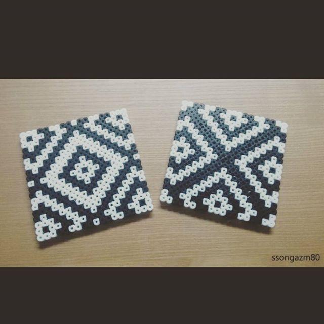 Coaster set perler beads by ssongazm80