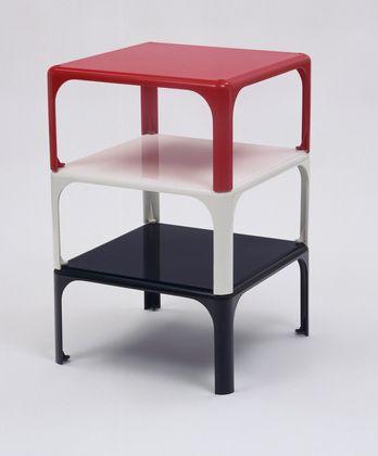 Vico Magistretti; Demetrio 45 Stacking Tables for Artemide, 1966.
