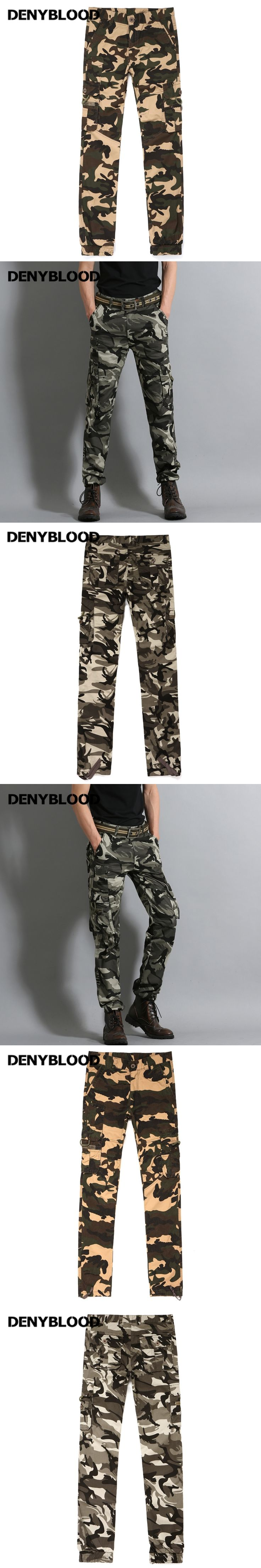 Denyblood Jeans Mens Cargo Pants Army Green Camouflage Chinos Pants Cotton Military Twill Trousers Casual Pants B0741