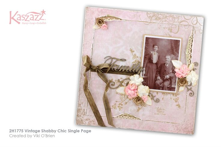 2H1775 Vintage Shabby Chic Single Page