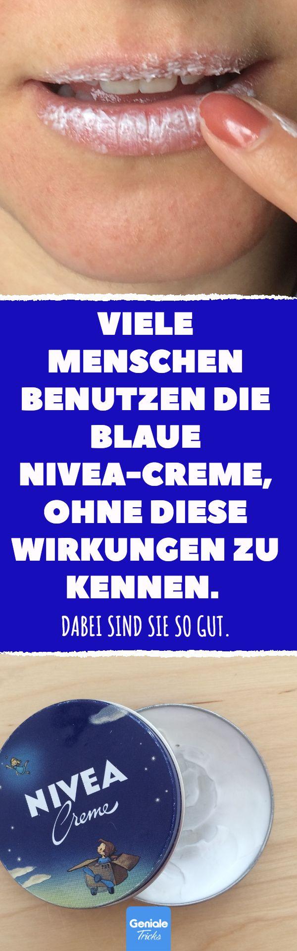 Viele Menschen benutzen die blaue Nivea-Creme, ohne diese Wirkungen zu kennen. Dabei sind sie so gut. 10 praktische Anwendungen für Nivea-Creme. #nivea #creme #hautcreme #schwangerschaftsstreifen #lippenpflege #augenringe – Birgit Barkmann