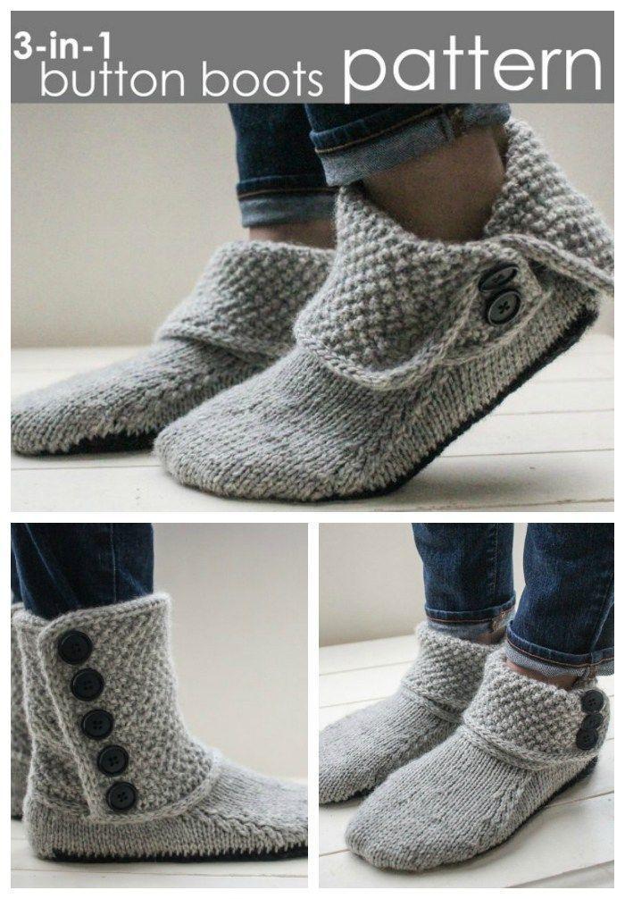 Lieben Sie diese wunderschönen einfachen 3-in-1-Stiefelschuhe, die Muster stricken! Ich mag