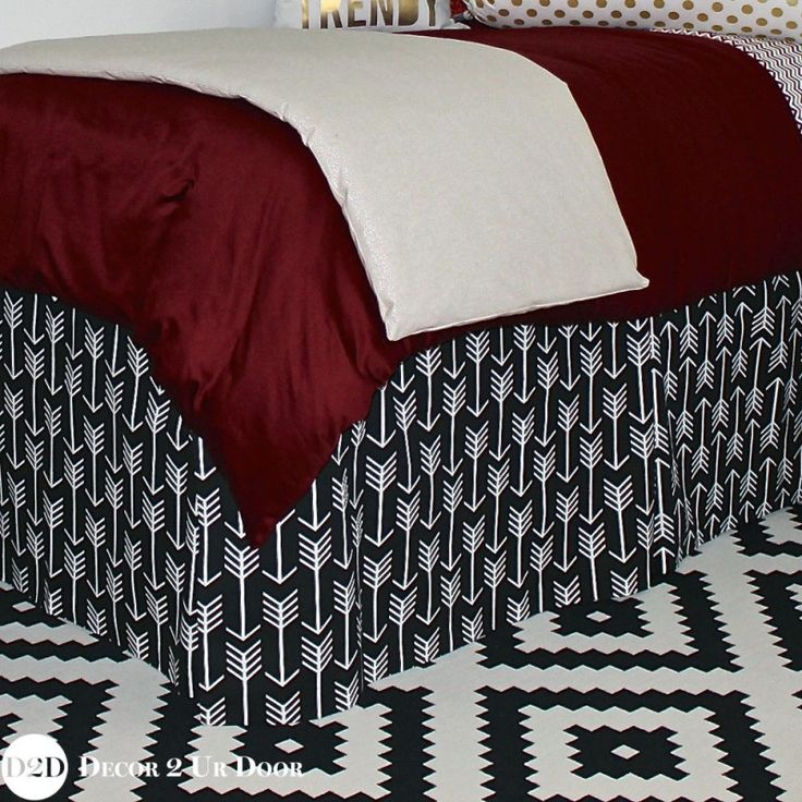 "Design Your Own Extended Length 34"" Drop Dorm Bed Skirt"