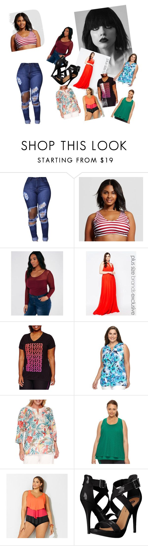 """plus size"" by softic-23 ❤ liked on Polyvore featuring Forever Unique, Xersion, Croft & Barrow, Alfred Dunner, Fila, Avenue, Michael Antonio and plus size clothing"