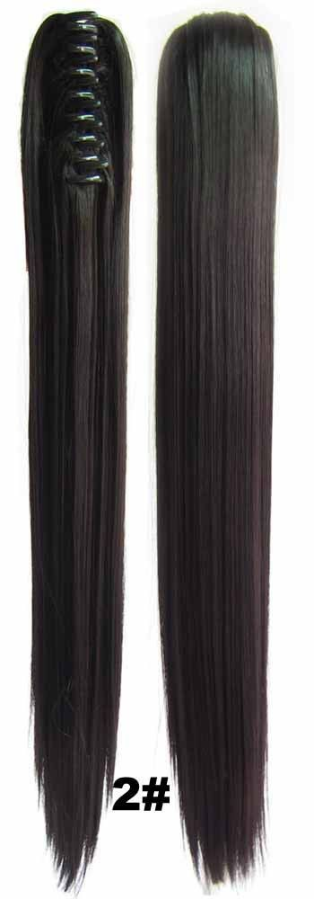 4787 best human hair extensions images on pinterest clip in hair 22inches womens long straight claw pony tail synthetic fiber hair ponytail clip in on hair extension pmusecretfo Choice Image