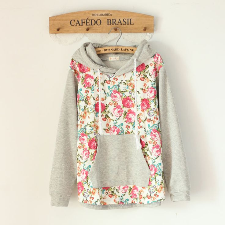 Free Shipping 8.1 autumn pullover patchwork with a hood sweatshirt health pants twinset set $38.64