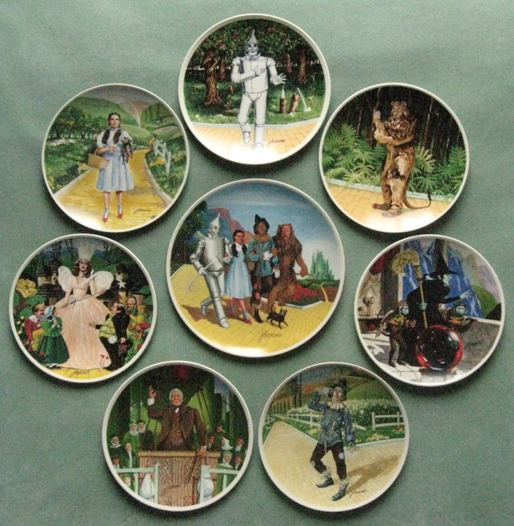 Wizard of Oz Collectible Plate Set