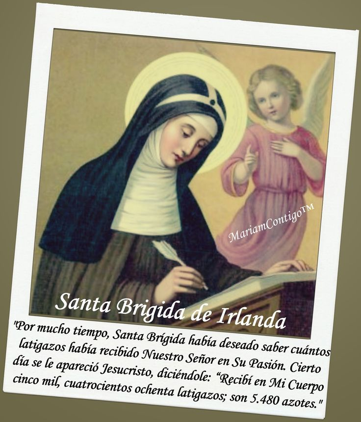 SANTA BRIGIDA DE IRLANDA   Faughart, Irlanda - Kil Dara, Irlanda  (451 †525)  Abadesa  Patronazgo: Lecheros,   Irlanda           ...