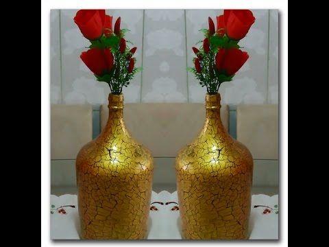 Transforme um garrafão de vinho em um lindo jarro!!! - YouTube
